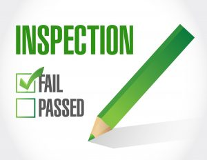fail inspection check list illustration design