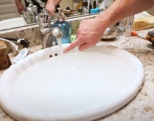 Bradford Home Inspections check the sink