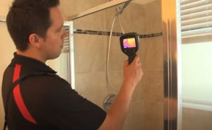 Bradford Home Inspections checking water temperature