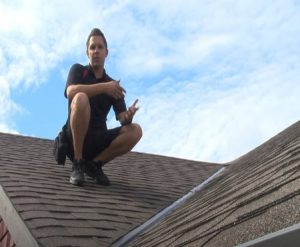 Bradford Home Inspections checking the roof