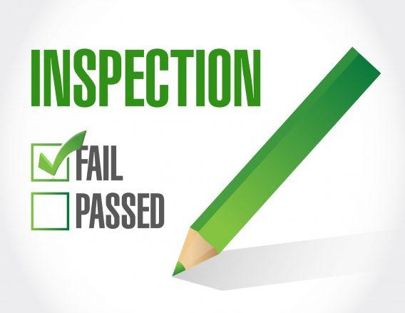 fail inspection check list illustration design